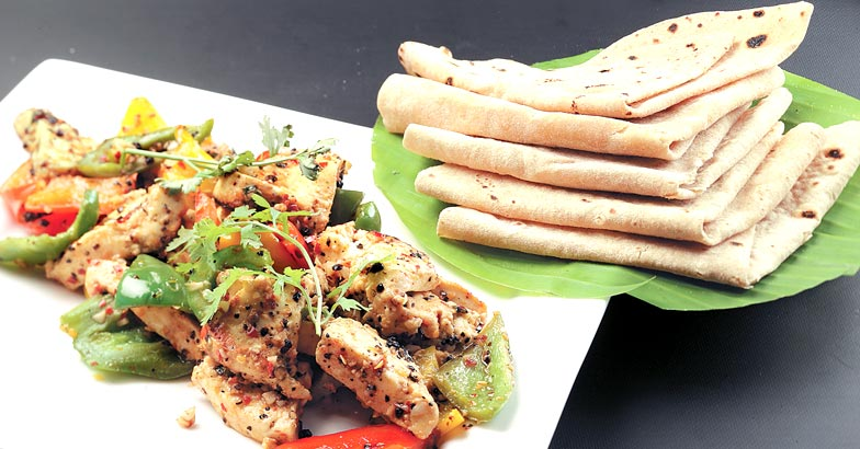 Chappati and grilled paneer