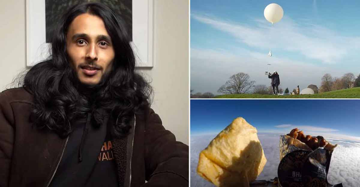 Man tries to send samosas into space, crash-lands in France
