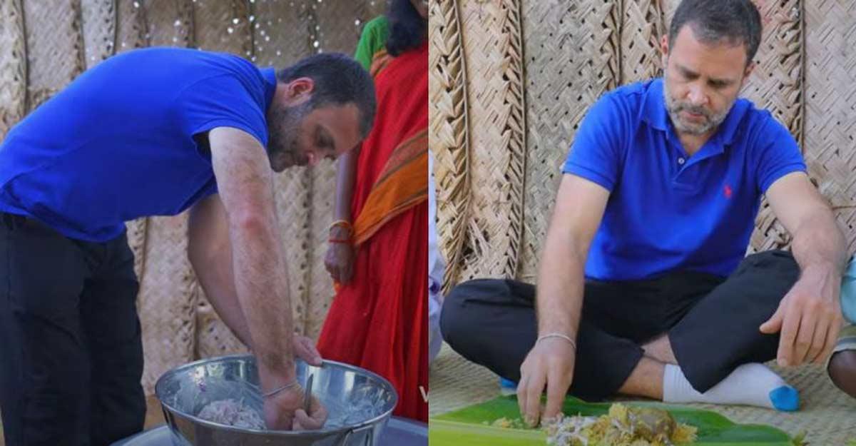 Rahul Gandhi relishes mushroom biryani, prepares salad with 'Village Cooking Channel'