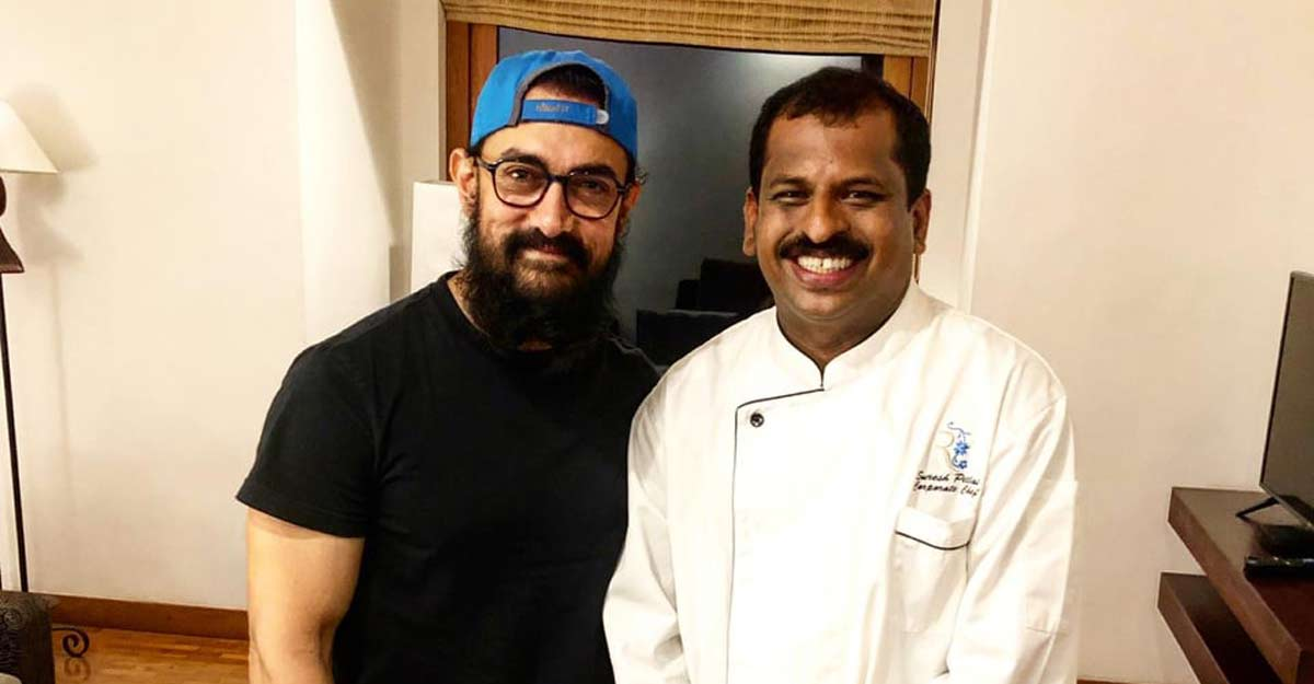Aamir Khan enjoys traditional rice and fish in Kerala