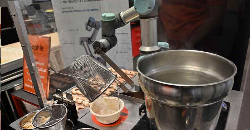 Sophie the robot whips up oodles of Singapore noodles