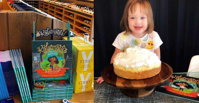 Author-sommelier Sarah Thomas pricks kid's taste buds with little gal Kalamata