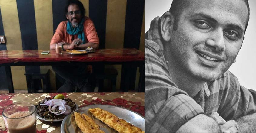 Muhsin Parari's day out with Shahabaz for this beef-pazhampori combo