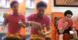 Sachin Tendulkar makes mango kulfi on his 25th wedding anniversary