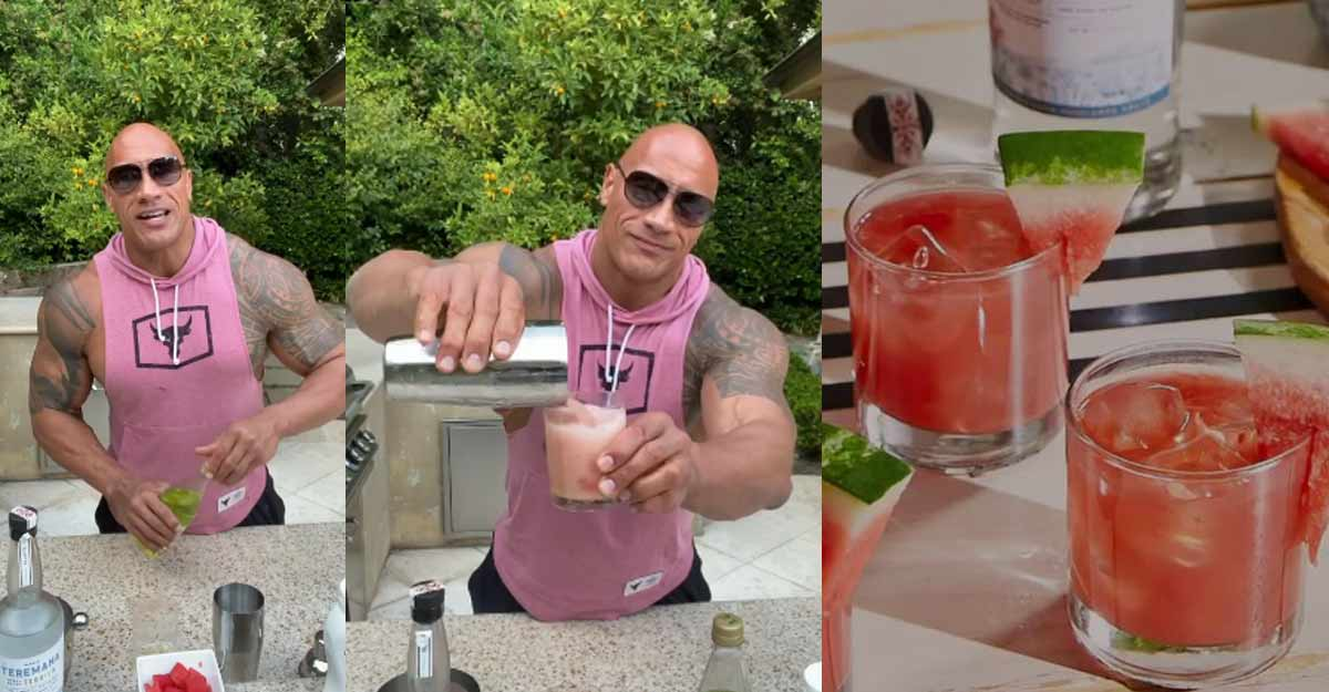 Dwayne Johnson shares recipe of Watermelon Manarita and it includes his new tequila