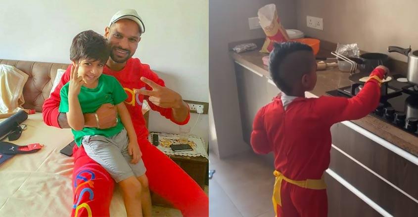 Superhero cooking; Shikhar Dhawan's video goes viral