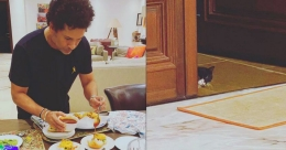Tendulkar gets an unexpected visitor to enjoy his vada pav