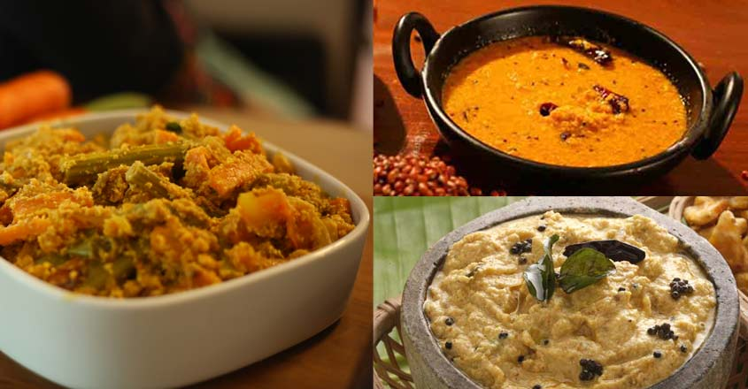 5 side dishes for Onasadhya
