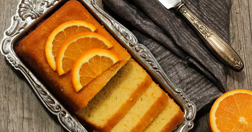 Orange sponge cake in just half an hour
