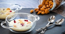 Almond and rose kheer