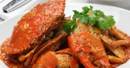 Freshwater mud crab roast