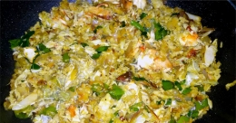 Crab meat thoran