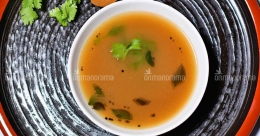 A twist to rasam with mango