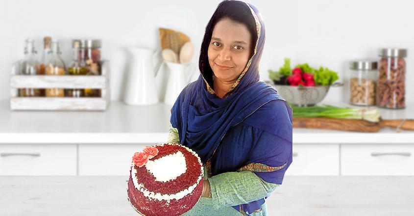Here's how to bake red velvet cake in a biryani vessel
