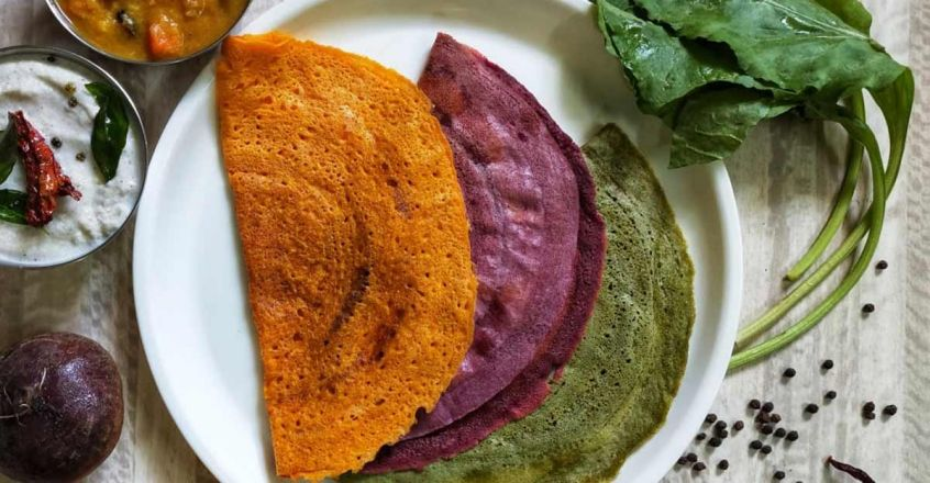 Colourful, healthy dosa
