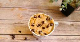 Peanut butter cookie in a coffee mug