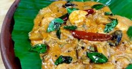 Prawns plantain curry