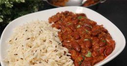 Jeera rice with rajma masala