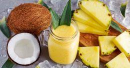Refreshing coco-pineapple juice