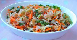 Leftover chapathi salad
