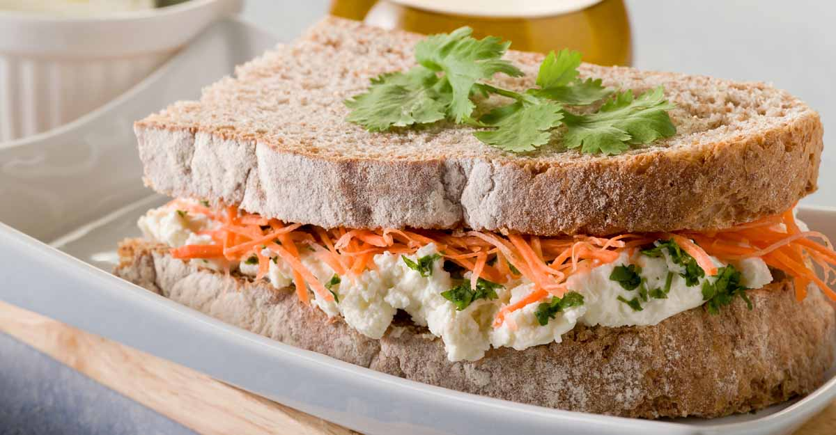 Egg and carrot sandwich