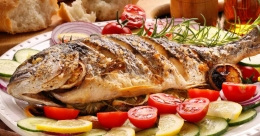 Beer-soaked grilled fish