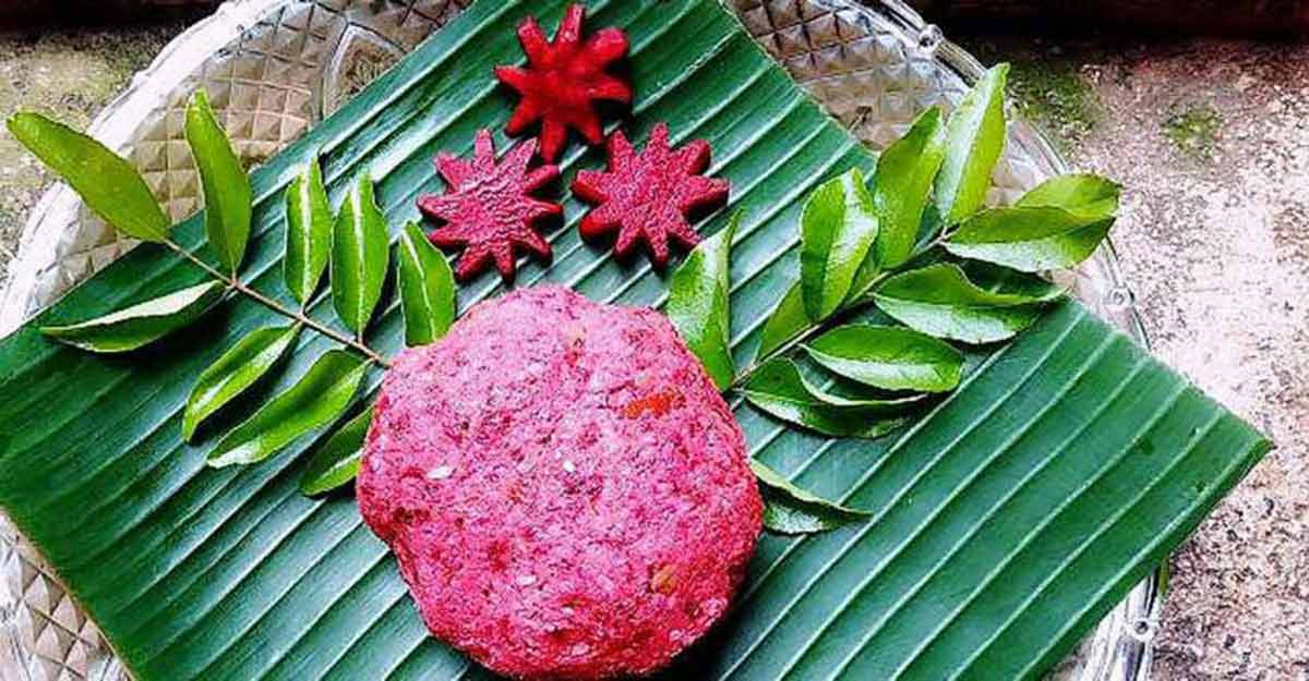Colourful beetroot chammanthi