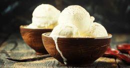 Vanilla ice cream with just 4 ingredients