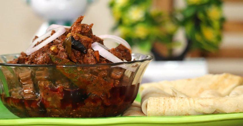 Rava dosa with beef curry | Kerala Recipe | Food ...