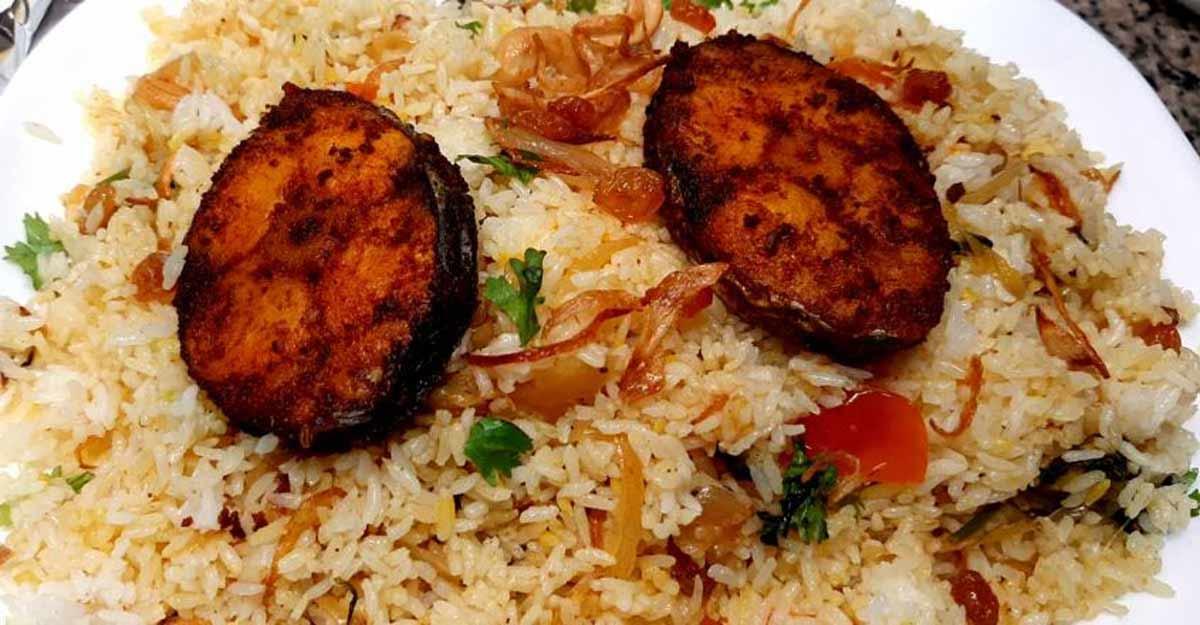 Thalassery fish biryani