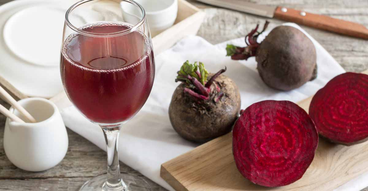Zippy beetroot wine for New Year