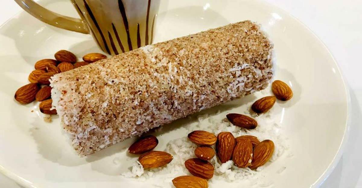 Tasty almond puttu