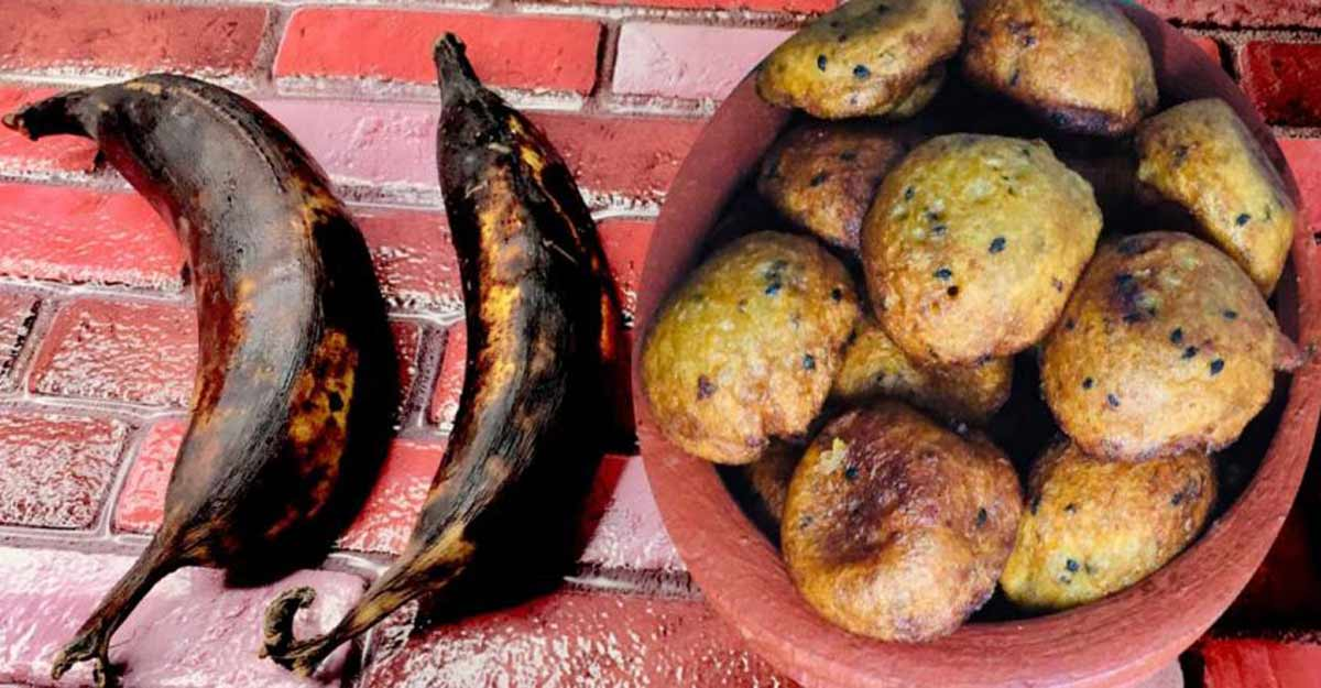 Unniyappam using ripe bananas