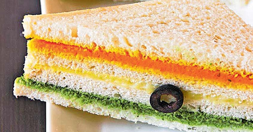 tricolour sandwich