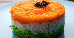 Tricolour vegetable pulao