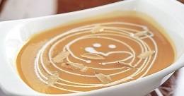Try this low calorie carrot-pumpkin soup