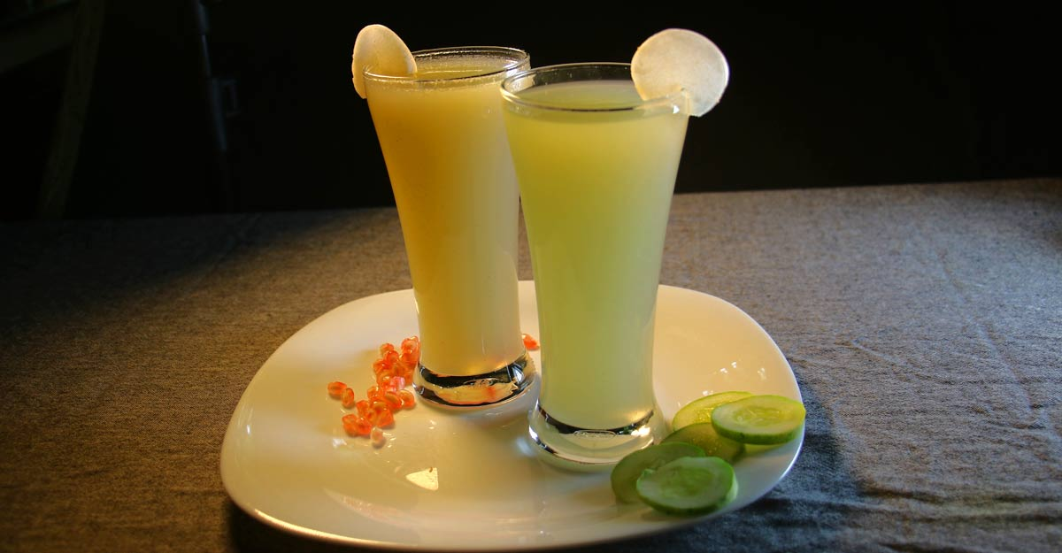 Sweet and salt twist to plantain stem juice