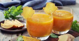 Mango-ginger lemonade