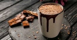 Low-calorie hot chocolate
