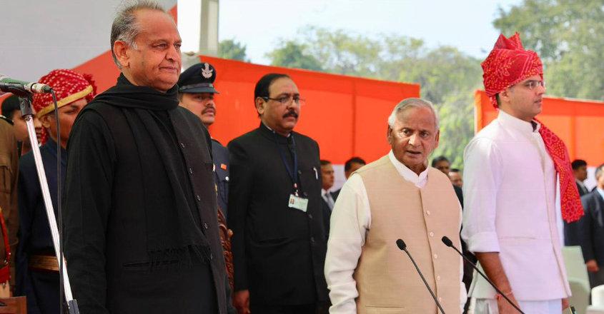 Gehlot sworn in Rajasthan CM