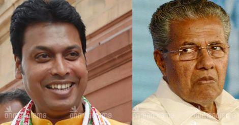 Biplab begins Kerala tour with a warning for Pinarayi