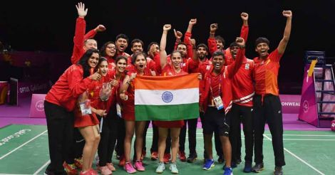 India win maiden badminton mixed team gold