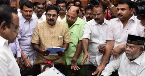 Dhinkaran takes oath as MLA, gets a rousing reception