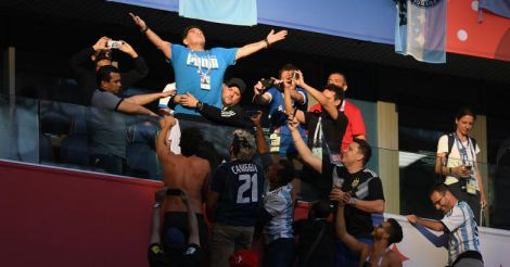Maradona needed assistance after Argentina win