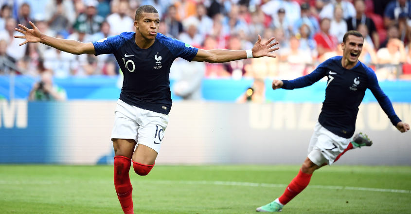 Mbappe double helps France beat Argentina 4-3
