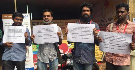 National anthem row: protest against arrest at IFFK venue