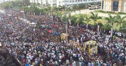 Karunanidhi laid to rest on Marina
