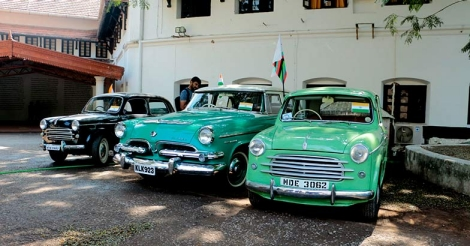 Vintage cars roll into Biennale for Republic Day rally