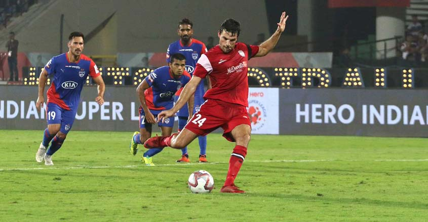 ISL: Late penalty helps NorthEast edge out Bengaluru
