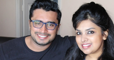 Sunil Vallath and wife Parvathy